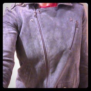 Theory Lambskin Moto Jacket NWT Sz Small